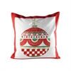 Pomeroy Traditions 20x20 Pillow, Ribbon Red,Evergreen,Snow