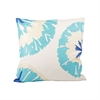 Pacifica Petals 20x20 Pillow, Ivory,Cool Waters