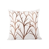 Pomeroy Willows 20x20 Pillow, Crema,Dark Earth