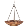 Marbled Stone 6 Light Pendant In Matte Nickel