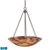 ELK lighting Marbled Stone 6 Light LED Pendant In Matte Nickel