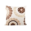 Pomeroy Talisman 20x20 Pillow, Crema,Dark Earth,Sand