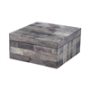 Lazy Susan Gray And White Bone Boxes - Lg