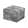 Lazy Susan Gray And White Bone Boxes - Sm