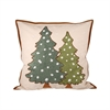 Pomeroy Forester Pillow 20X20-Inch, Sand,Evergreen