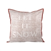 Let It Snow Pillow 24X24-Inch, Cafe,Snow