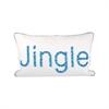 Pomeroy Jingle 20x12 Pillow, Crema,Malibu Blues