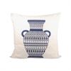 Classique Vase Pillow 20X20-Inch, Crema,Indigo