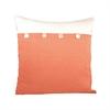 Pomeroy Maris Pillow 20X20-Inch, Coral,White
