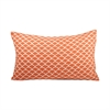 Pomeroy Scallop Lumbar Pillow 26X16-Inch, Coral,White