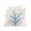 Pomeroy Seascape Pillow 20X20-Inch, Cool Waters,Crema