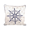 Pomeroy Captains Wheel 20x20 Pillow, Navy,Chateau Graye