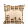 Woodlyn 20x20 Pillow, Dark Earth,Crema