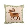 Pomeroy Elk 20x20 Pillow, Evergreen,Cafe