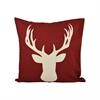 Pomeroy Deer 20x20 Pillow, Cabernet,Crema
