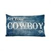 Pomeroy Get Your Cowboy On 20x12 Pillow, Denim,Antique White
