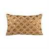 Gilded Scallops 20x12 Pillow, Artisan Bronze