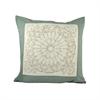 Pomeroy Notre Dame 20x20 Pillow, Sage,Crema