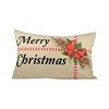Pomeroy Holiday Package 26x16 Lumbar Pillow, Sand,Black,Ribbon Red