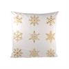 Pomeroy White Christmas 20x20 Pillow, Snow,Gold