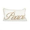 Peace 26x16 Lumbar Pillow, Crema,Silver,Gold