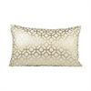 Botola 26x16 Lumbar Pillow, Snow,Gold