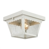 Springfield 2 Light Exterior Flush Mount In White