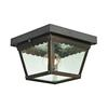 Cornerstone Springfield 2 Light Exterior Flush Mount In Hazelnut Bronze