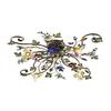ELK lighting Brillare 4 Light Flushmount With Multicolor Crystal Florets