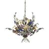 Brillare 6 Light Chandelier With Multicolor Crystal Florets