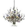 Brillare 9 Light Chandelier With Multicolor Crystal Florets