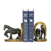 Sterling Pair Horse And Horseshoe Bookends