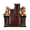 Sterling Pair of Thinking Cherub Bookends