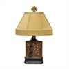 Carved Block Table Lamp