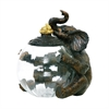 Elephant Glass Storage Jar