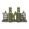 Sterling Pair of Trading Places Bookends