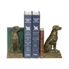 Sterling Pair of Chocolate Lab Bookends