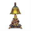 Resting Queen Frog Mini Accent Table Lamp