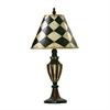 "Dimond 29"" Harlequin & Stripe Urn Table Lamp in Black and Antique White"