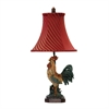 "24"" Crowing Rooster Table Lamp in Barnyard Finish"