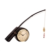 Sterling Rod 'N Reed Fishing Display Clock