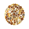 Novell Round Wall Decor, Mixed Metals