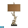 "Dimond 35"" Driftwood LED Table Lamp in Silver Leaf"