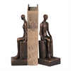 Sterling Male And Female Form Bookends