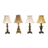 Set of 4 Library Mini Lamps in Multi Finishes