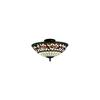 ELK lighting English Ivy 3 Light Semi Flush In Tiffany Bronze