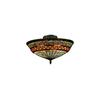 ELK lighting Jewelstone 3 Light Semi Flush In Classic Bronze
