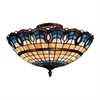 Victorian Ribbon 3 Light Semi Flush In Classic Bronze