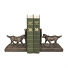 Sterling Pair of Retriever Bookends