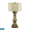 "Dimond 33"" Cahors View Distressed LED Table Lamp in Beige"